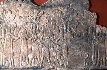British Museum 124782 Assyrian heads 640BC-620BC